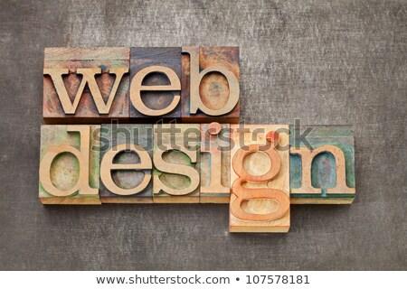 progettazione · di · siti · web · testo · metal · tipo · mista · vintage - foto d'archivio © pixelsaway