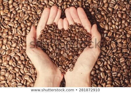 Granos de café forma corazón grunge Servicio Foto stock © stevanovicigor