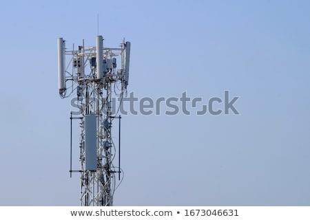 связь · башни · закат · блюд · бизнеса · небе - Сток-фото © capturelight
