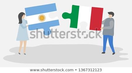 Аргентина Италия флагами головоломки вектора изображение Сток-фото © Istanbul2009
