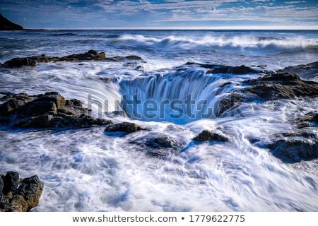 Víz tölcsér kék közvetlenül fölött alagút Stock fotó © chrisbradshaw