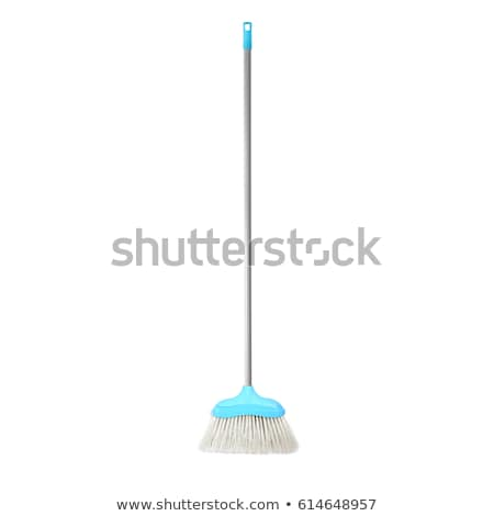 plastic blue and red brooms isolated Stock photo © shutswis