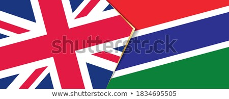 united kingdom and gambia flags stock photo © istanbul2009
