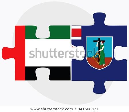 Egyesült Arab Emírségek zászlók puzzle izolált fehér üzlet Stock fotó © Istanbul2009