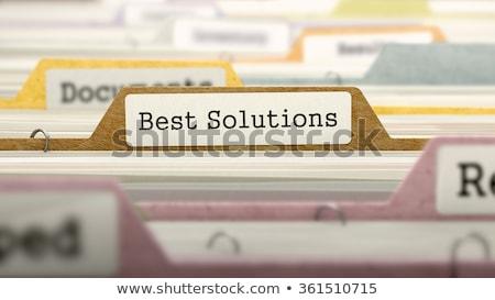 Best Solutions - Folder Name in Directory. Stock photo © tashatuvango