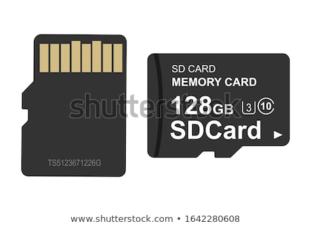 フラッシュ · メモリ · カード · 指先 · 孤立した - ストックフォト © digitalr
