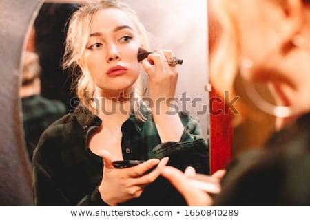 bela · mulher · festa · mulher · menina · cara · modelo - foto stock © spectral