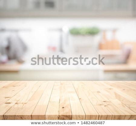 rajz · otthon · konyha · mikró · izolált · fehér - stock fotó © rastudio