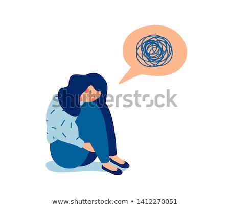 Sad or bewildered girl Stock photo © Klinker
