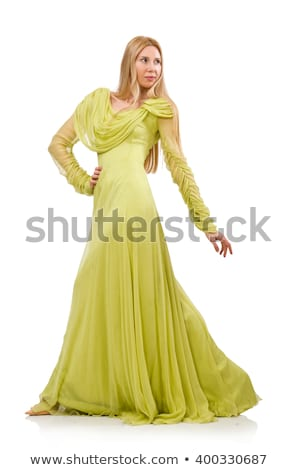 Blondie in elegant dress isolated on white Stock photo © Elnur