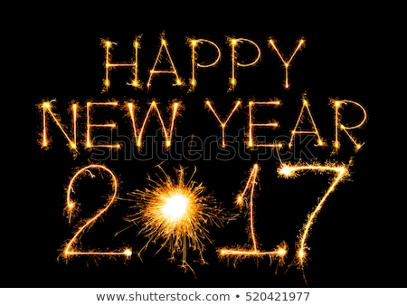 Happy New Year - 2017 made by sparklers on black Stock photo © vlad_star
