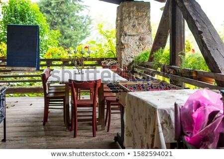 old farmhouse with garden in Orient. Stock photo © meinzahn
