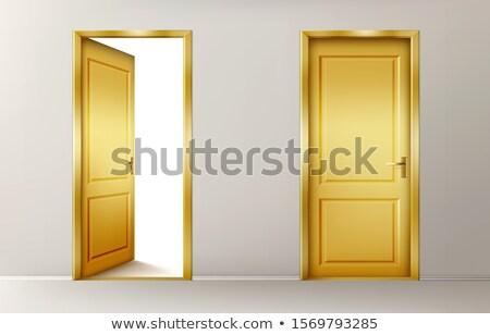 Arany ajtó arany fölött összes üveg Stock fotó © Silanti