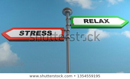 Two green direction signs - Stress or Relaxation Stock photo © Zerbor