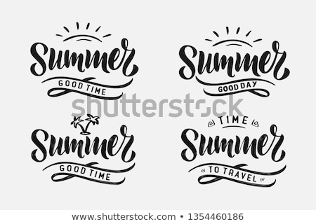 Love Summer Handwritten Calligraphy Stock photo © Anna_leni