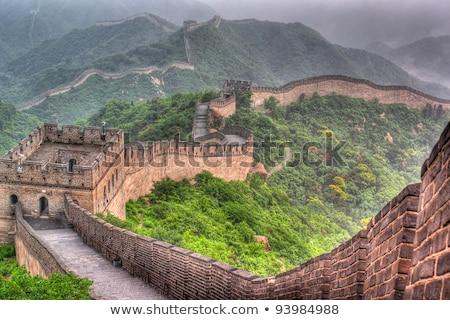 Bergen blauwe hemel Beijing China noorden Stockfoto © Qingwa