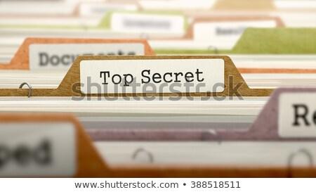 Card Index with Top Secret. 3D. Stock photo © tashatuvango