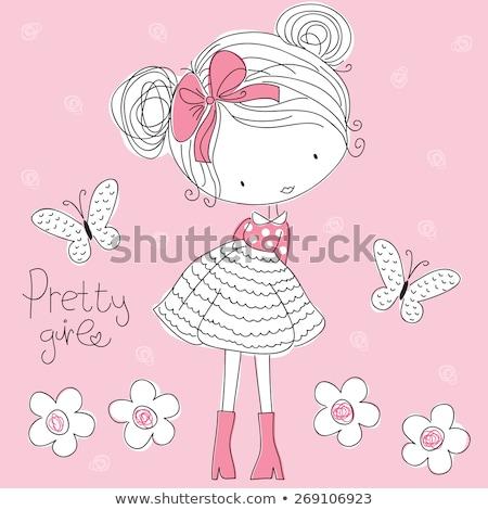 bebê · borboleta · idade · um · mês · cara - foto stock © traimak