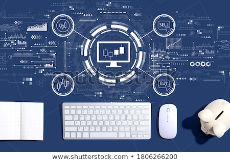 dinheiro · mouse · de · computador · negócio · computador · azul · euro - foto stock © devon
