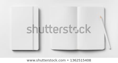 Notebook vázlat üres rajz könyv fekete Stock fotó © pakete