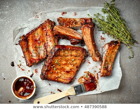 Ribs in a bowl Stock photo © phila54