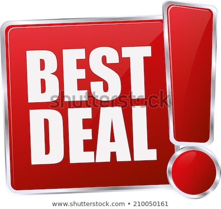 Super deal vector icon knop ontwerp Stockfoto © rizwanali3d