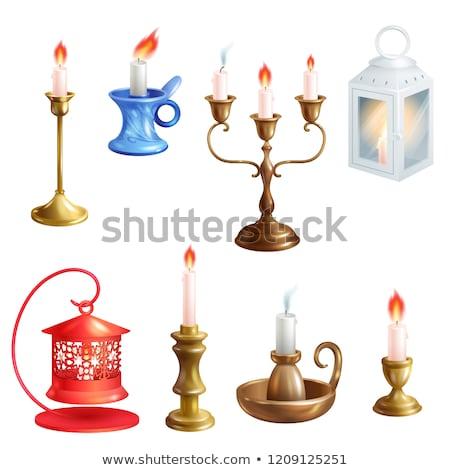 Metallic Candle Holder Stock photo © lenm