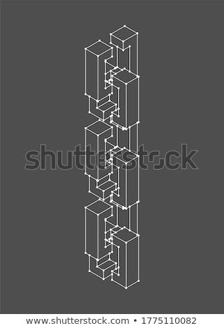 Ağ yalıtılmış matris zincir iş bilgisayar Stok fotoğraf © popaukropa
