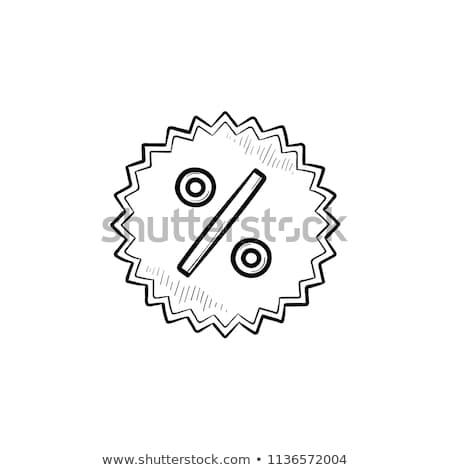price tag with star hand drawn outline doodle icon stock photo © rastudio
