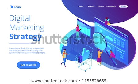 numérique · marketing · boîte · nuage · coloré · demande - photo stock © rastudio