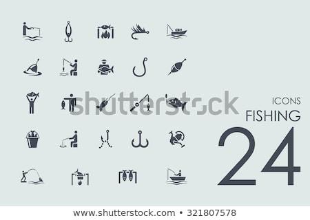 Icon of Fishing spoon Stock photo © angelp