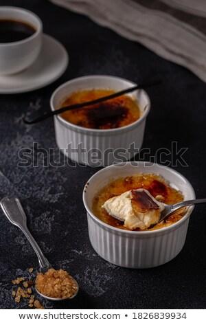 caramelo · creme · saboroso · branco - foto stock © grafvision