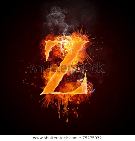 Stock photo: fire swirl letter z