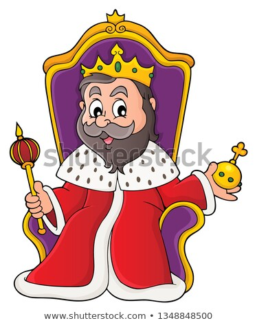 Rey trono imagen arte corona persona Foto stock © clairev