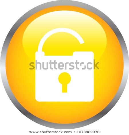 colorido · brilhante · botão · cadeado · ilustração - foto stock © blue_daemon