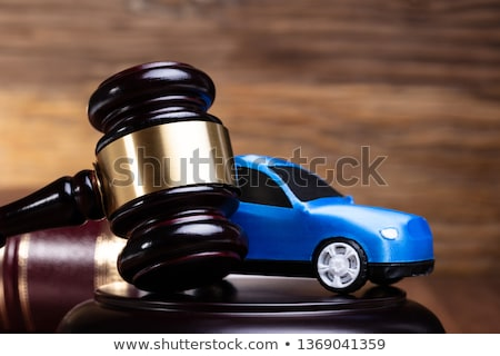 Gavel And Blue Car Near Law Book Stock photo © AndreyPopov