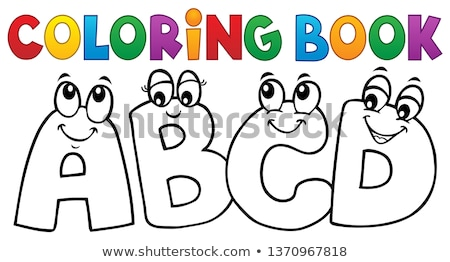 Coloring book cartoon ABCD letters 1 Stock photo © clairev