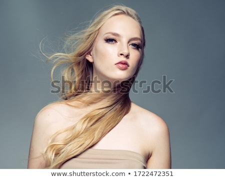 portre · genç · kadın · parfüm · kadın · güzellik · şişe - stok fotoğraf © serdechny