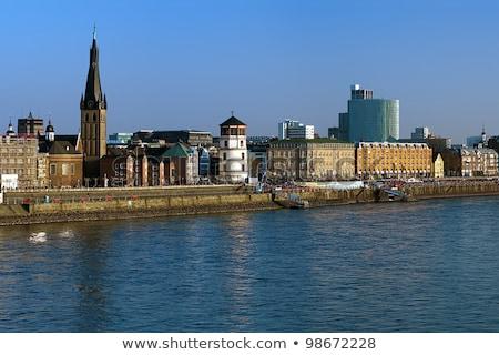 katholiek · kerk · klok · blauwe · hemel · Pasen · gebouw - stockfoto © borisb17
