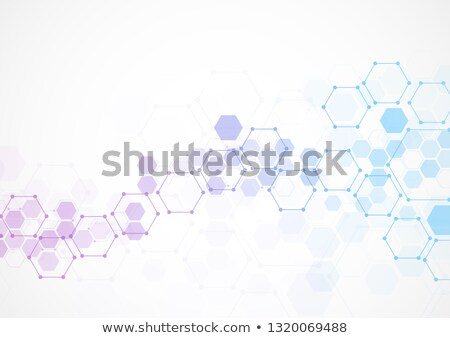 DNA images - line design style vector elements Stock photo © Decorwithme