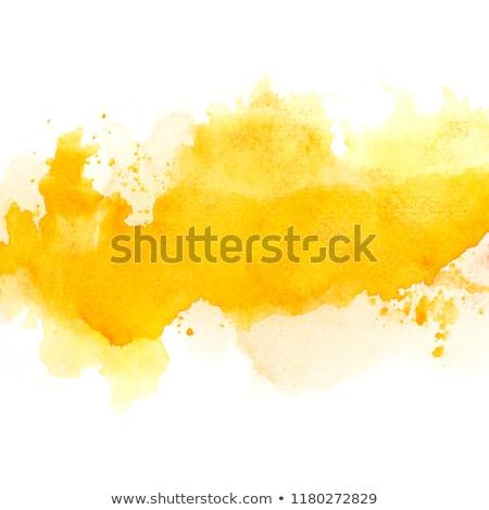 желтый акварель пятно текстуры текста пространстве Сток-фото © SArts