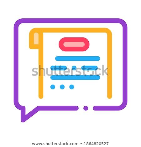Düşünce mahkeme ikon vektör örnek Stok fotoğraf © pikepicture