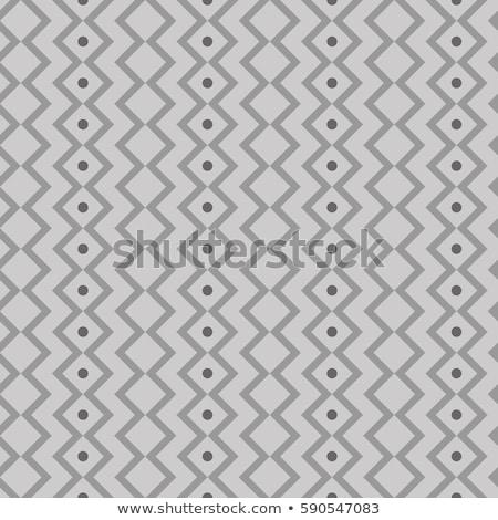 Subtle Ornament With Striped Rhombuses. Vector Seamless Monochrome Pattern Stock photo © samolevsky