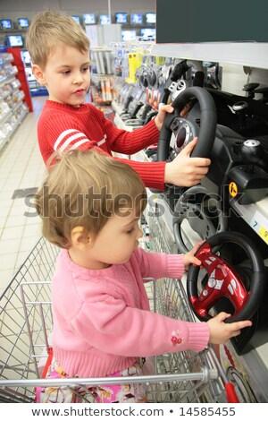 Broer zus winkel meisje gezicht gelukkig Stockfoto © Paha_L