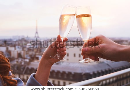 couple drinking champagne in a restaurant stock photo © photography33