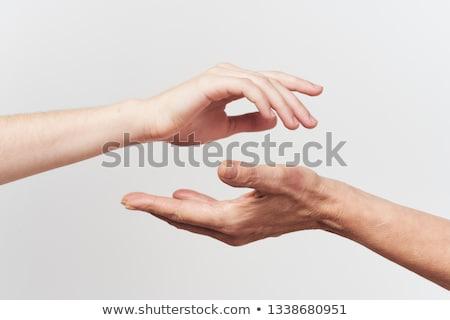два рук изолированный белый первый Сток-фото © ashumskiy