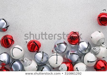 Kırmızı Noel çan kar beyaz uzay Stok fotoğraf © jakgree_inkliang