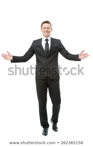 business man with open arms to welcome you Stock photo © feedough