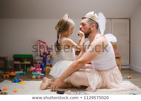 padres · jugando · ninos · ejecutando · parque · mujer - foto stock © get4net