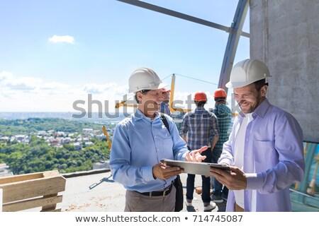 viga · construção · guindaste · edifício · em · movimento - foto stock © stootsy
